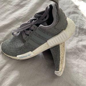 Gray Adidas NMDs